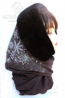 Меховой шарф (88 фото длинные и короткие модели) 77