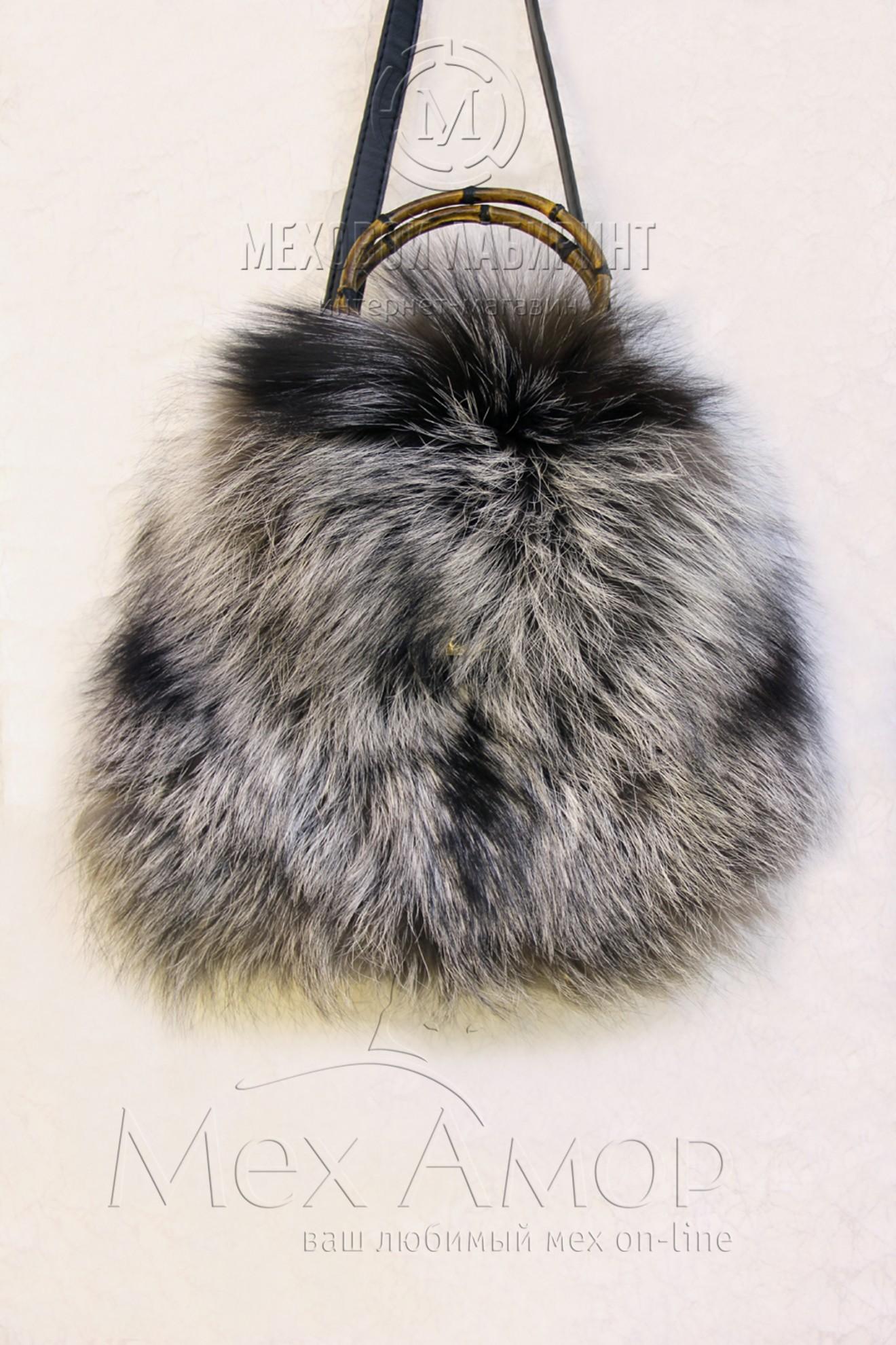 Меховая сумка из высококачественного меха песца.