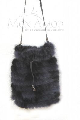 602eccb391df Меховые сумки из меха норки, лисы чернобурки, песца и кролика - купить в  интернет-магазине